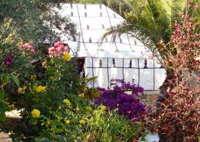 Hymer and garden